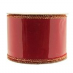 RED VELVET RIBBON WITH GOLD EDGE  RI6801